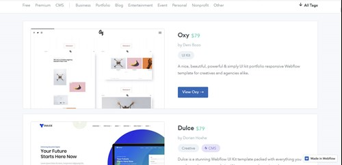 Webflow business templates